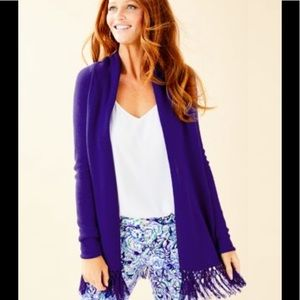 NWT Lilly Pulitzer Tatumcardigan sz S royal purple